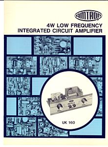 1970 ca MILANO 4W Low frequency amplifier AMTRON *Catalogo English UK 160
