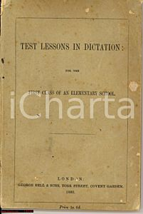 1880 LONDON Test lessons in dictation Elementary school