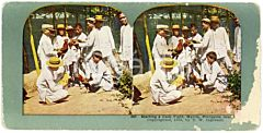 1903 MANILA (PHILIPPINE ISLANDS) Starting a Cock Fight - Coloured Stereoview 267