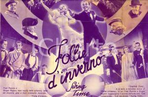 1936 FOLLIE D'INVERNO Swing time Ginger ROGERS Fred ASTAIRE Movie *Volantino