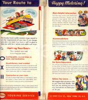 1954 NEW YORK (USA) ESSO touring service Your route to happy motoring *Lotto