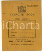 1950 ca  BRITISH ARMY Exercise book for use in naval and military schools