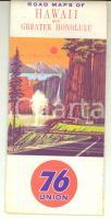 1970 ca USA Road maps of HAWAII and greater HONOLULU *76 UNION VINTAGE