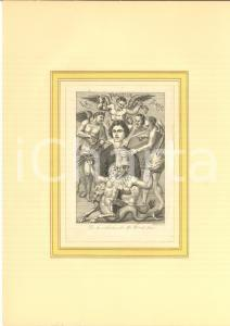 1870 ca FRANCE Marquis DE SADE surrounded by demons  - Engraving H. BIBERSTEIN