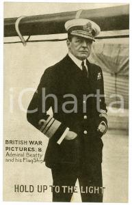 1920 ca British War Pictures - Admiral Beatty and his FlagShip - Postcard n.8