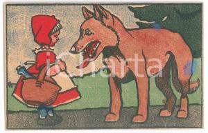1910 ca FAIRY TALE Red Riding Hood and the wolf ILLUSTRATED Postcard FP NV