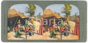 1904 JERUSALEM Gypsies outside the Walls *Stereoview HOLY LAND Series 544