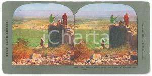 1904 PALESTINE The JERICHO Plain from the Ruins *Stereoview HOLY LAND Series 580