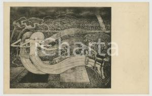 1930 ca Artist Jan TOOROP - O grave where is they victory - Original postcard