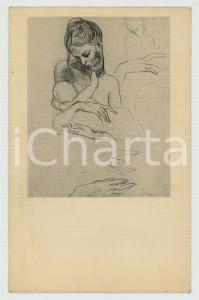 1952 Artist Pablo PICASSO Mother and Child - Fogg Art Museum - Postcard