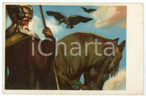 1910 ca GERMANY - HISTORY - A knight - Illustrated old postcard