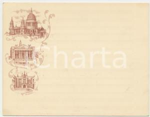 1895 ca LONDON St. Paul's Cathedral - Royal Exchange - Guildhall - Postcard 11x9