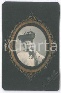 1900 ca LONDON Lady wearing hat with veil - Chic Photo 6x10 cm
