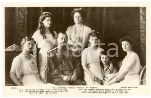 1910 ca HOUSE OF ROMANOV Imperial royal family of Russia - Postcard FP NV